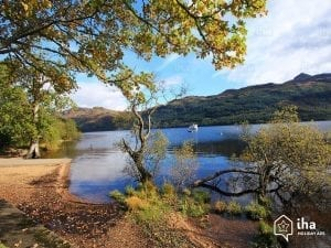 loch lomond in the trossachs scotland, trossachs national park